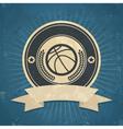 Retro Basketball Emblem vector image vector image