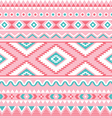 Tribal seamless pattern Aztec pink and green vector image vector image