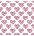 Pink floral heart Vintage background vector image