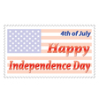 Independence Day post stamp vector image vector image