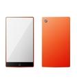 Orange perfectly detailed modern smart phone vector image