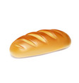 realistic bread isolated bakery icon vector image