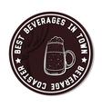 Round Beverage Coaster White vector image