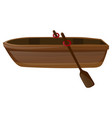 rowboat with two oars vector image