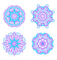 set from four round abstract ornament vector image