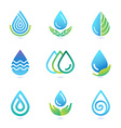 Water and oil logo design elements vector image