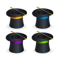 Magic hats set vector image