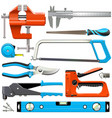 Hand tools icons vector image