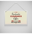 Hanging on the wall advertisement board fantastic vector image vector image