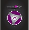 login page with tune button vector image