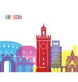 Brescia skyline pop vector image