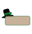 st patricks day hat vector image