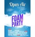 Foam Party summer Open Air Beach foam party vector image