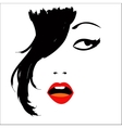 girl with sexual lips vector image