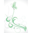 grass and butterfly vector image