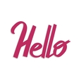 Hello handdrawn word letteryng good for t-shirts vector image