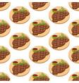 meat steak pattern vector image