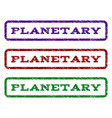 planetary watermark stamp vector image