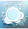 Snowflakes and space for text plus EPS10 vector image
