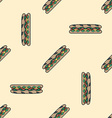 sub sandwich colored seamless pattern vector image