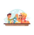 Teamwork successful students vector image