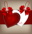 Valentines hearts tags vector image