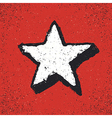 Five-pointed star grunge icon Star Geometr vector image vector image