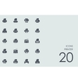 Set of printer icons vector image
