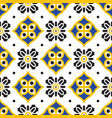 black and yellow mediterranean seamless tile vector image