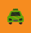 flat icon design collection taxi silhouette vector image