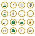 golf cartoon icon circle vector image vector image