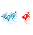 Catch the Leader Fast Service vector image