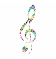 a colorful clef vector image vector image