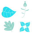 Winter leaves set isolated on white vector image