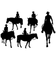 cowboy on horse vector image