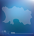 Map of Jersey vector image