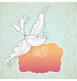 vector birds with frame vector image vector image