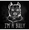 Pit Bull Terrier with slogan vector image