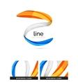 Swirl wavy ribbon abstract concept vector image vector image