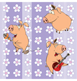 background with pigs vector image