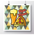 food icons poster on a vintage pattern vector image