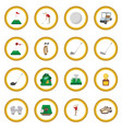 golf cartoon icon circle vector image