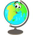 Happy globe cartoon vector image