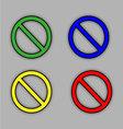Sign ban set vector image