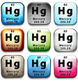 The chemical element Mercury vector image