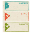 Vintage paper banners for games vector image