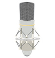 Vintage white microphone vector image