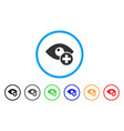 vision medical cross rounded icon vector image