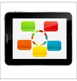 Abstract design Tablet for different business vector image vector image