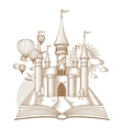 World of tales fairy castle appearing from the vector image vector image